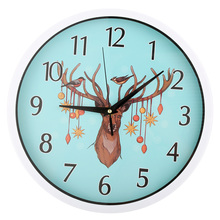12 Inch Creative Decorative Wall Clock Home Needle Quartz Silent Living Study Office Watch Fashion Deer Bedroom Clocks