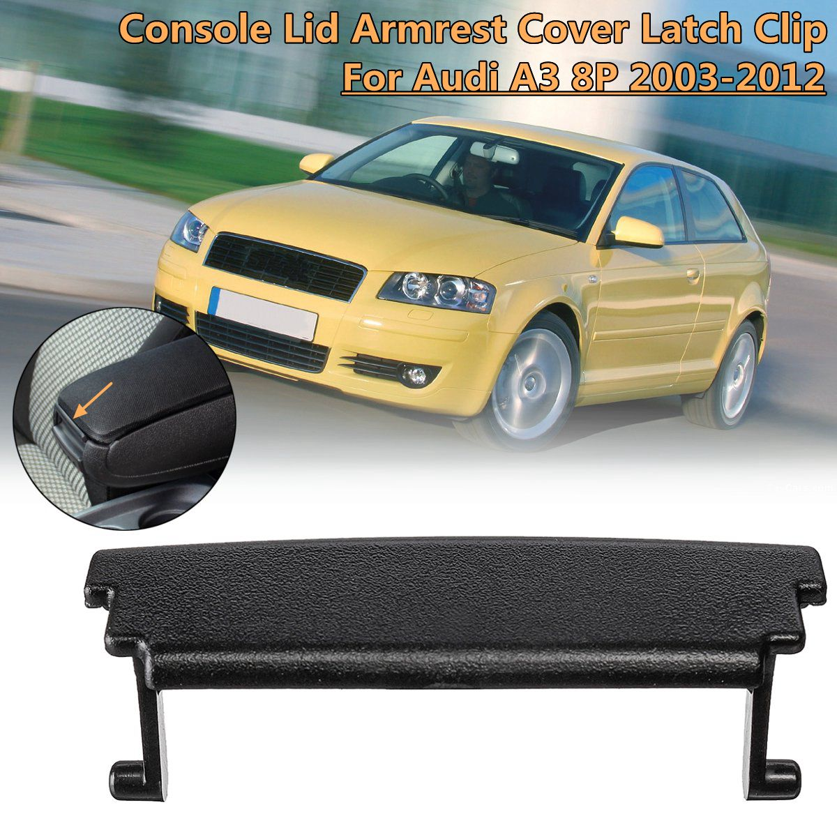 1Pc Plastic Center Console Lid Car Armrest Cover Latch Clip Cover Latch Clip Catch For Audi A3 8P 2003 2004 2005 2006 2007~2012(China)