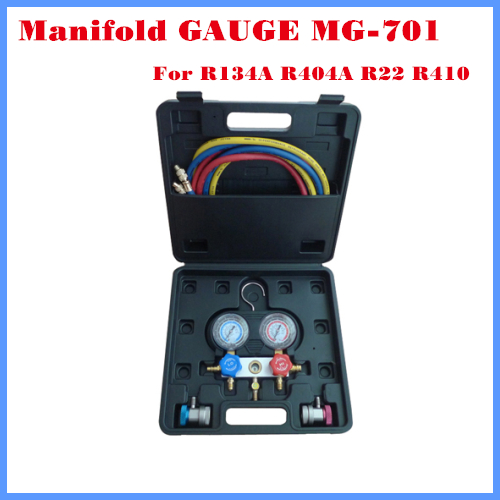 High Quality Automotive Refrigeration Air Conditioning Manifold Gauge For R134A r134a single refrigeration pressure gauge code 1503 including high and low