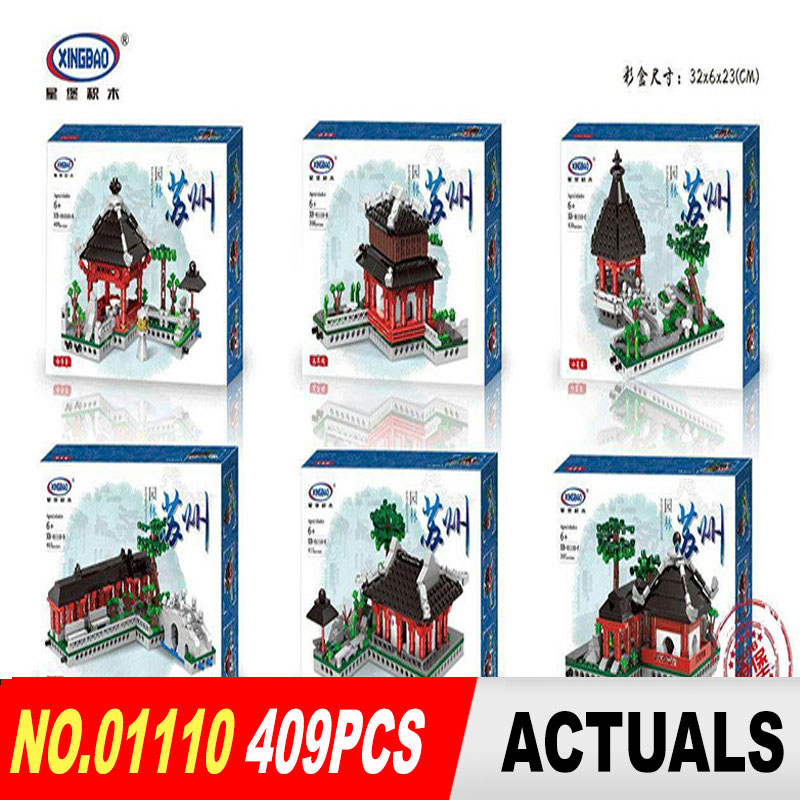 XingBao 01110 Toys Building Series The 6 in 1 Chinese Suzhou Garden Model Set Building Blocks Bricks Toys For Kids Gifts time series model building on climate data in sylhet