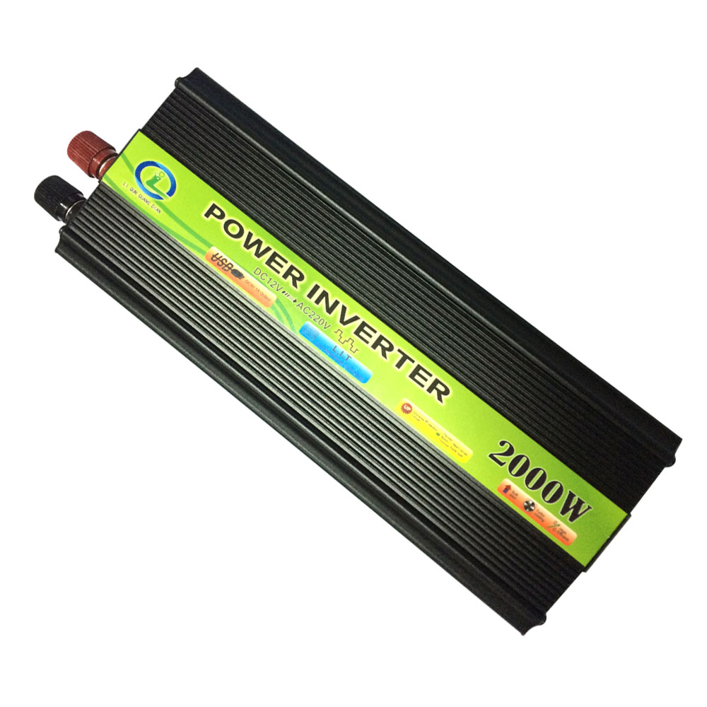 2000W Inverter Car Vehicle Voltage Inversor USB DC 12V to AC 220V Power Inverter Adapter Converter Car Travel Convert 12 B 220 B