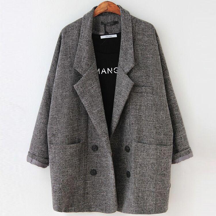 Пиджаки для женщин Для женщин Slim Fit Blazer пиджак цвета хаки серый плед для женщин; Большие размеры Повседневное Винтаж костюм пиджак женский