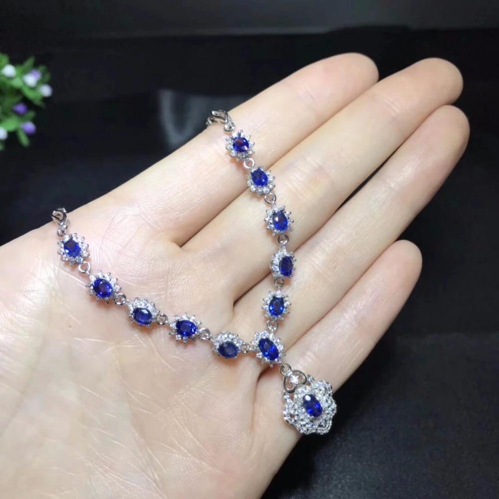Collier Collares Qi xuan_темно-синий камень Модный кулон шейный_ настоящий шейный_ качество eded_производитель напрямую