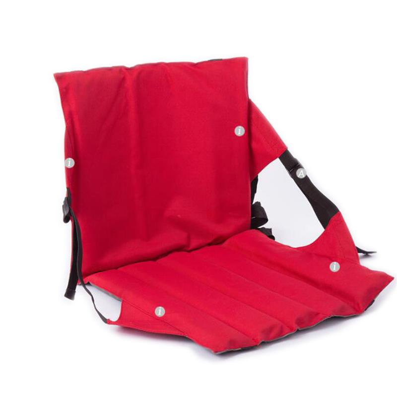 Portable Outdoor Foldable Chair Cushion with Back High Quality Oxford Cloth Folding Seat fixed pedestal base chair institutional cushion chair visitor stacking chair with breathable seat