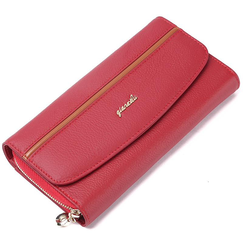 2017 Women Wallet Genuine Leather,100% Cowhide Zipper and Hasp Coin Purses Female Wallet High Quality Gift high quality women wallet 100