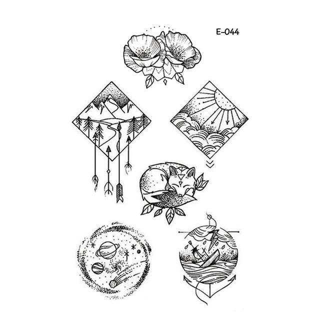 Wyuen Nouveau Design Nature Tatouage Faux Impermeable Temporaire