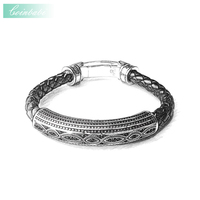 Bracelet Love Knot Leather With Clasp Length 20cm For Men New Heart Fashion Trendy Gift Thomas
