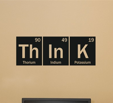 Think science periodic table elements living room home school office think science periodic table elements living room home school office vinyl art carving wall decal sticker urtaz