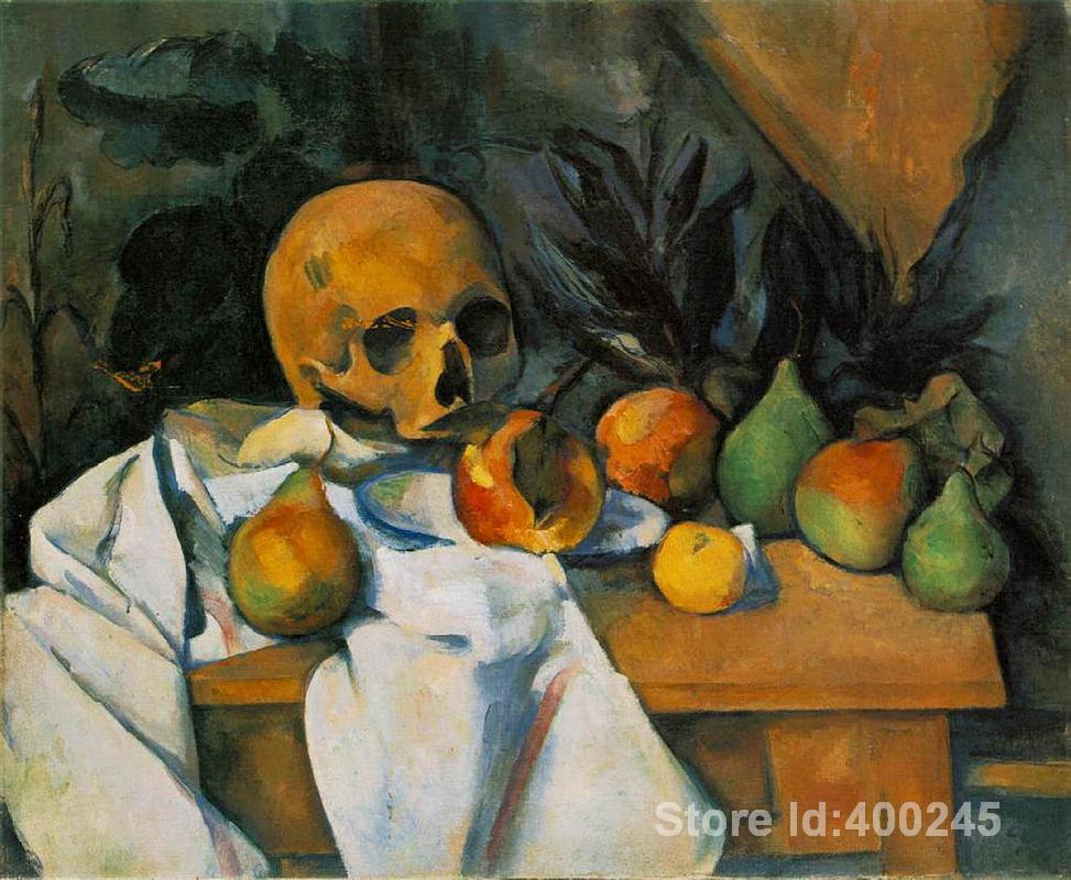 Best Art Reproduction Still Life with Skull Paul Cezanne Paintings for sale hand painted High qualityBest Art Reproduction Still Life with Skull Paul Cezanne Paintings for sale hand painted High quality