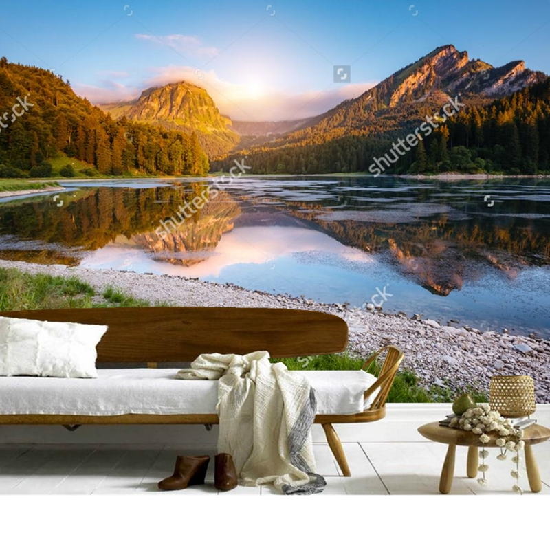 Custom natural landscape wallpaper,Alps,3D photo mural for living room bedroom restaurant background wall waterproof wallpaper. fast acu pj carbon style vented airsoft tactical helmet ops core style high cut training helmet fast ballistic style helmet