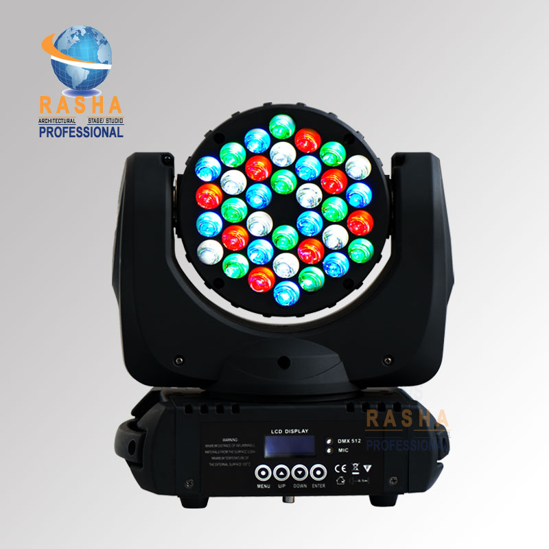 NO TAX UK WAREHOUSE Rasha 4X LOT 36*3W Cree 4in1 RGBW LED Moving Head Beam With Powercon Staage Beam Light Discco Event