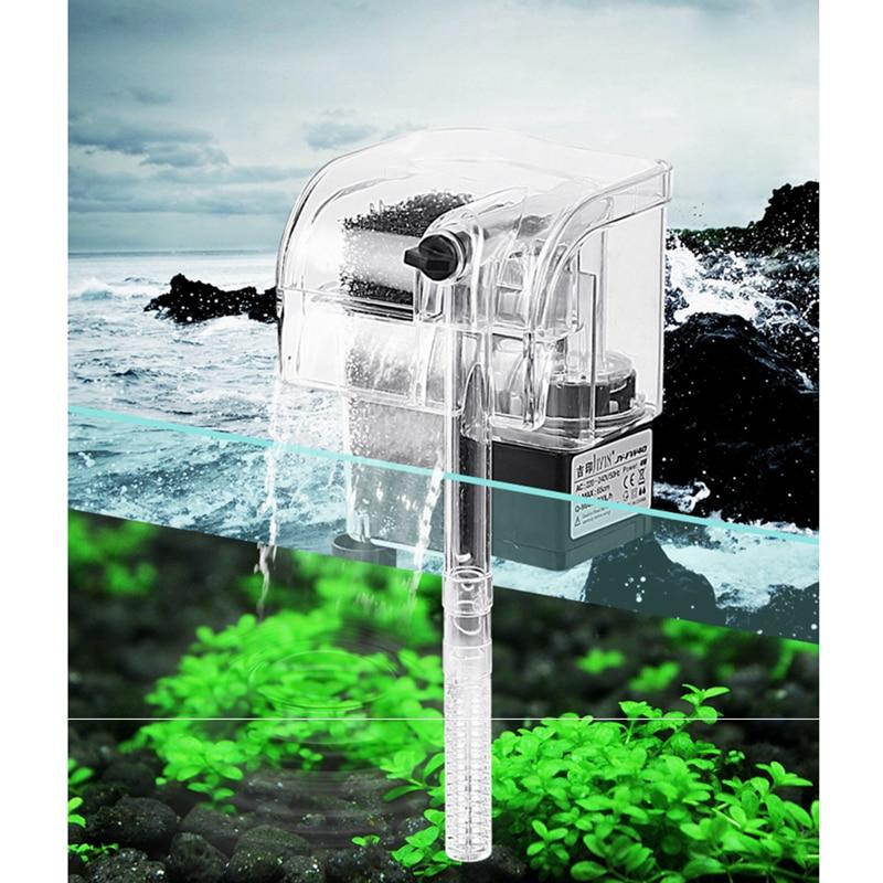 Aquarium mini clear external waterfall filter 3w 250l h for Small fish tank with waterfall