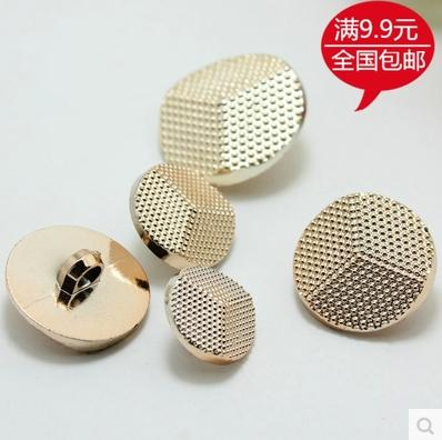 High-grade plastic button rose gold dot decoration overcoat sweater coat pitted surface button 100pcs/lot