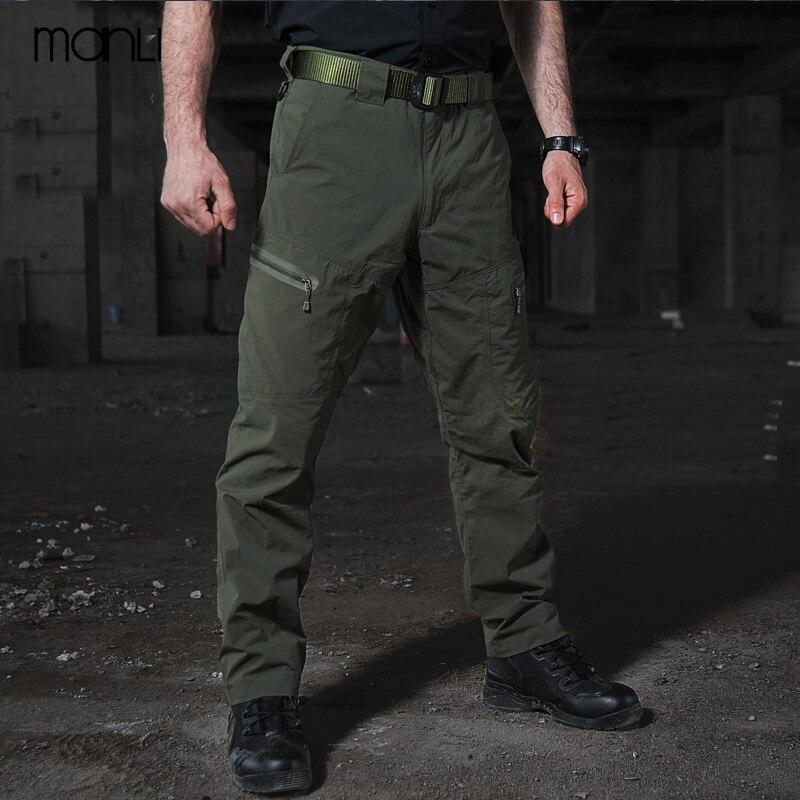 MANLI 2018 Mens Summer Quick Dry Pants Outdoor Male Four Seasons Multi-pocket Men Hiking Camping Trekking Fishing Sport Trouser