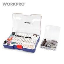 WORKPRO 295PC Rotary Tool Accessories Set Oscillatiing Abrasive Sanding Bits Kits Diamond Wheels