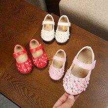 fa8591c85 2018 بنات اطفال رضع الأميرة أحذية Flowes حذاء واحد بلينغ الشقق الأطفال ماري  جينس أحذية(
