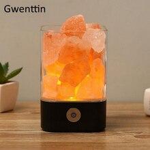 USB Хрустальная натуральная лампа из гималайской соли светодиодная лава лампа для дома в помещении теплый свет настольная прикроватная лампа для спальни люминара Декор