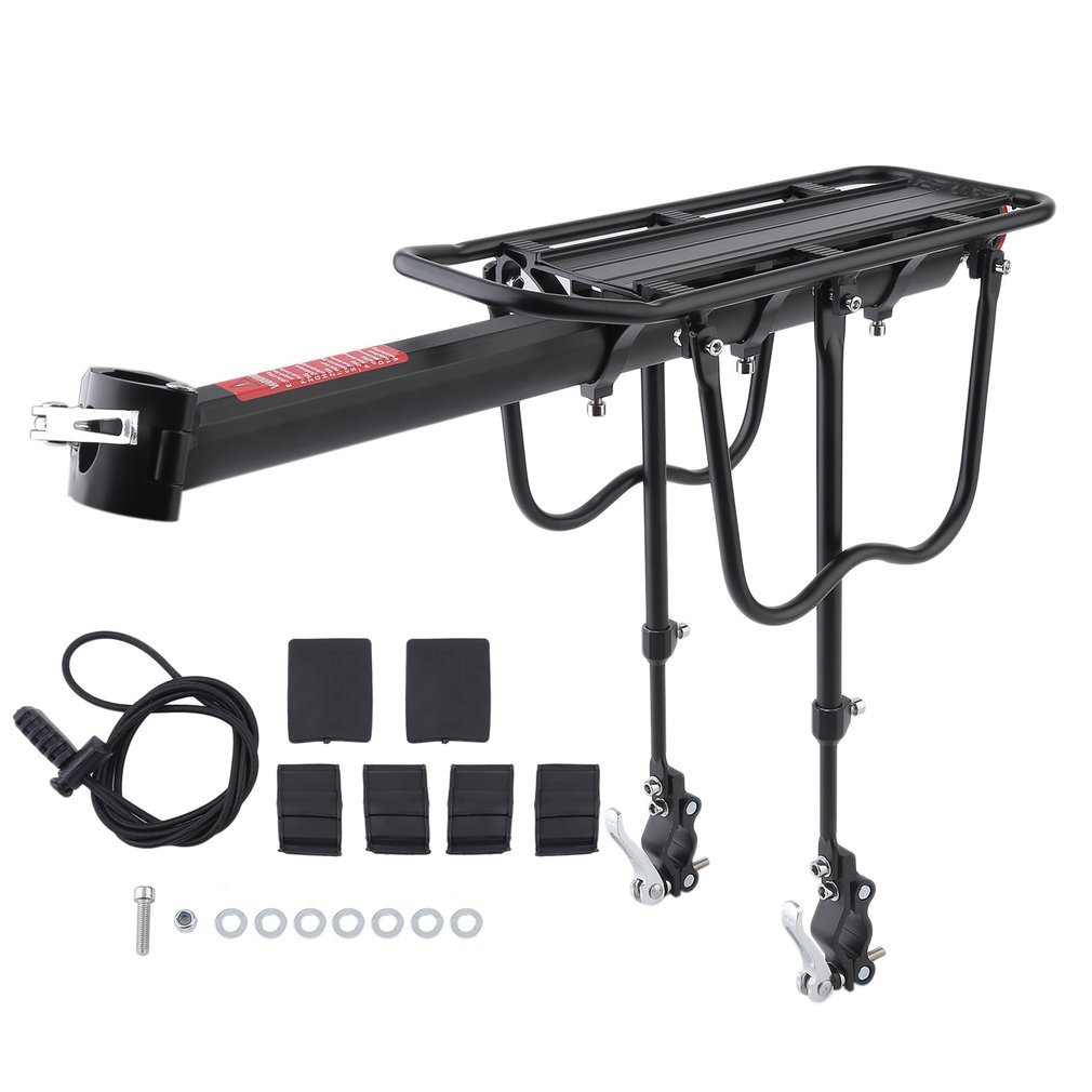 Quick Release Aluminum Alloy Bicycle Rack Bike Luggage Carrier MTB Bicycle Mountain Bike Cycling Rear Rack Seatpost Bag Holder