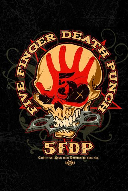 Five Finger Death Punch Silk Fabric Cloth Poster 27x40cm Home Docor