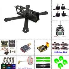 Carbon fiber frame DIY mini drone FPV 220mm quadcopter for QAV-R 220+F3 Flight Controller emax RS2205 2300KV Motor