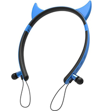 Compact and Portable Girls Devil Ear Headphones for Outdoor Sport Morning Running Riding, Perfect Home Birthday Gift
