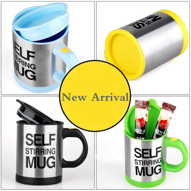 400ml Automatic Self Stirring Mug Coffee Milk Mixing Mug Stainless Steel Thermal Cup Electric Lazy Double Insulated Smart Cup 2