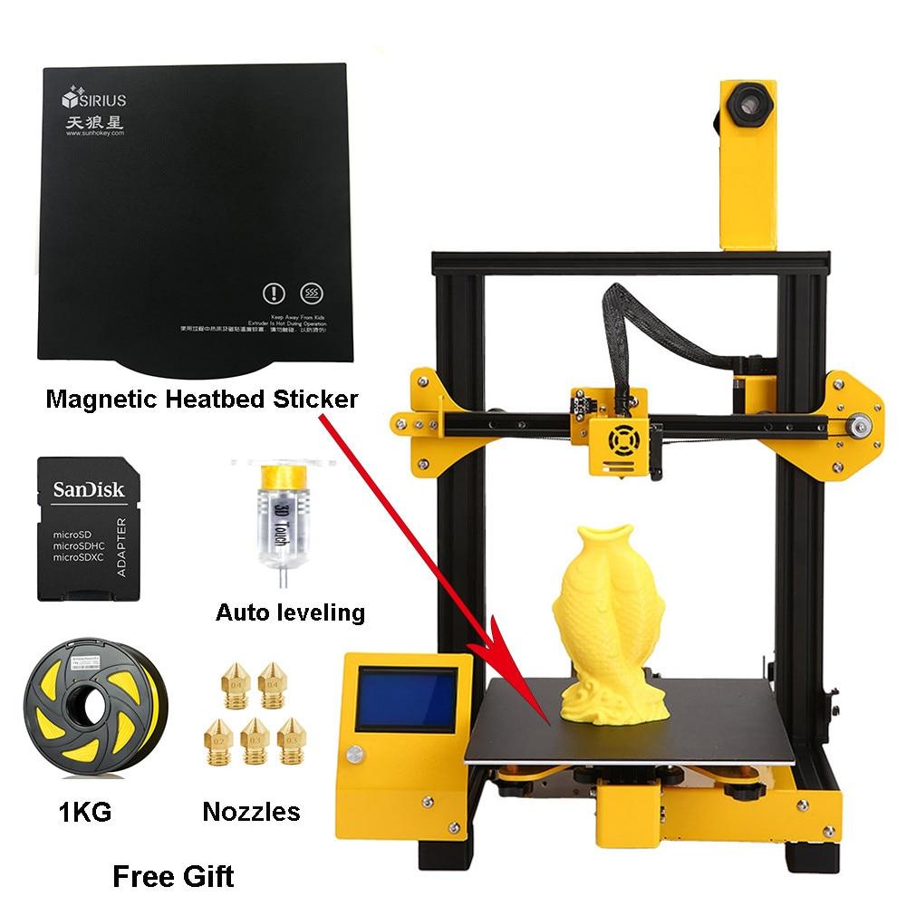 SUNHOKEY Sirius 3D Printer DIY Kit Full Metal Large Printing Size Impresora 3D Desktop Auto Leveling