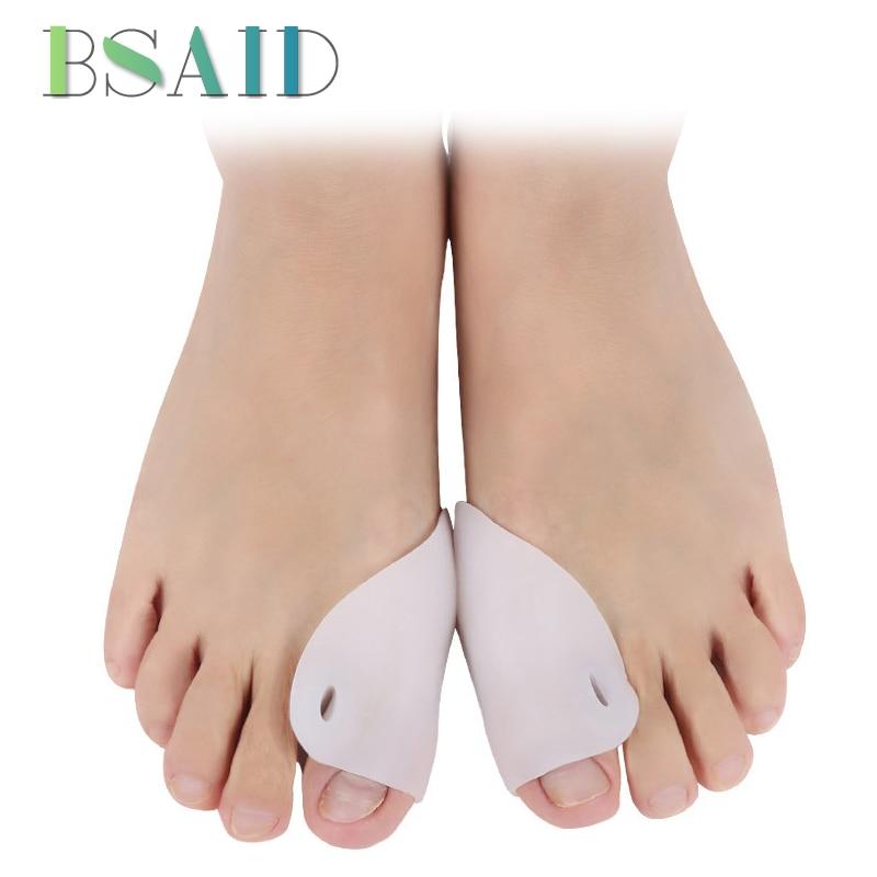 BSAID 1 Pair Silicone Big Toe Hallux Valgus Corrector Toe Separator Soft Silica Toe Big Bone Correction Brace Foot Pads Inserts 1 pair big
