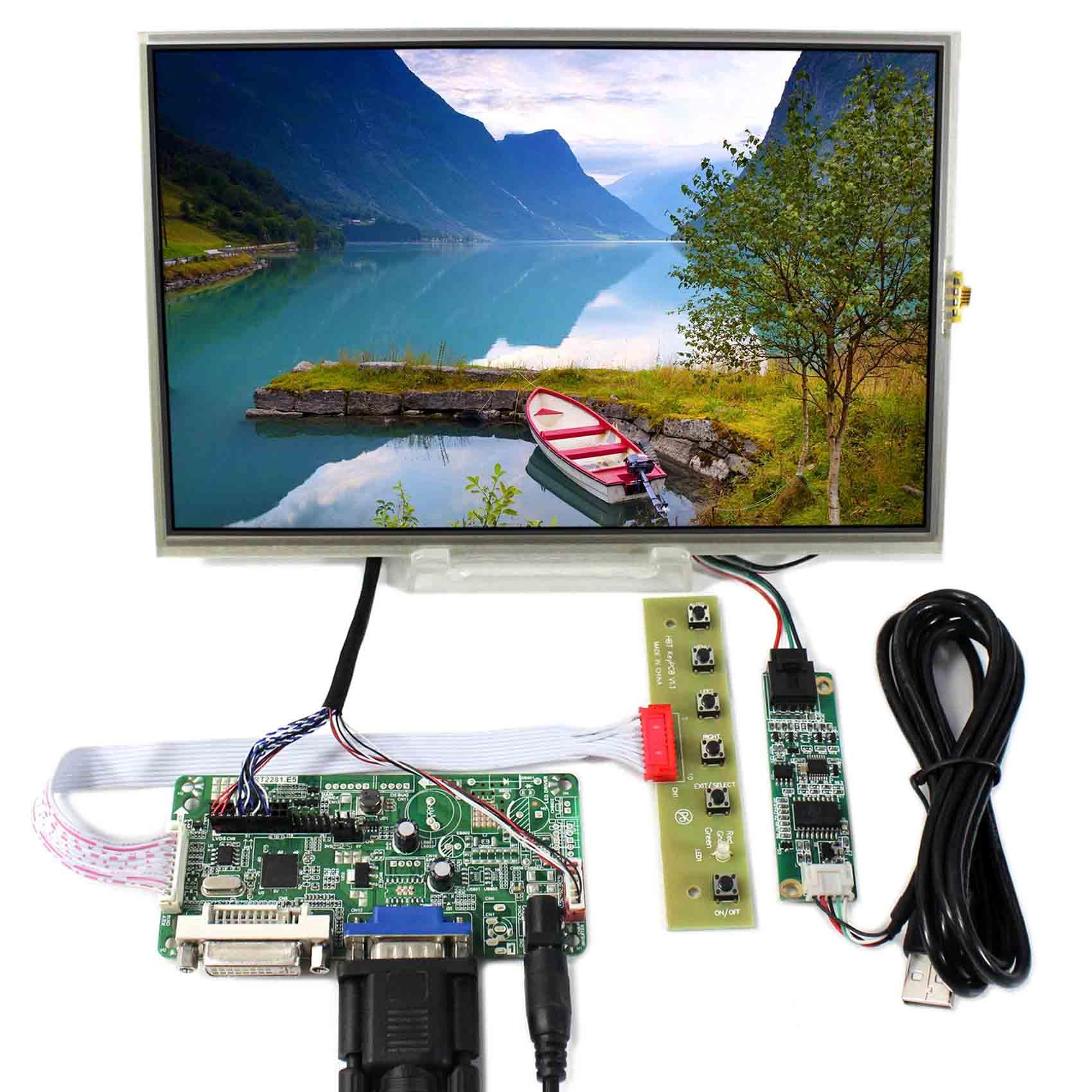 DVI VGA LCD Controller Board With 10.1inch 1280x800 B101EW05 LP101WX1 Touch LCD Screen hdmi dvi vga lcd controller board 10 1inch b101ew05 hsd101pww1 1280 800 lcd panel