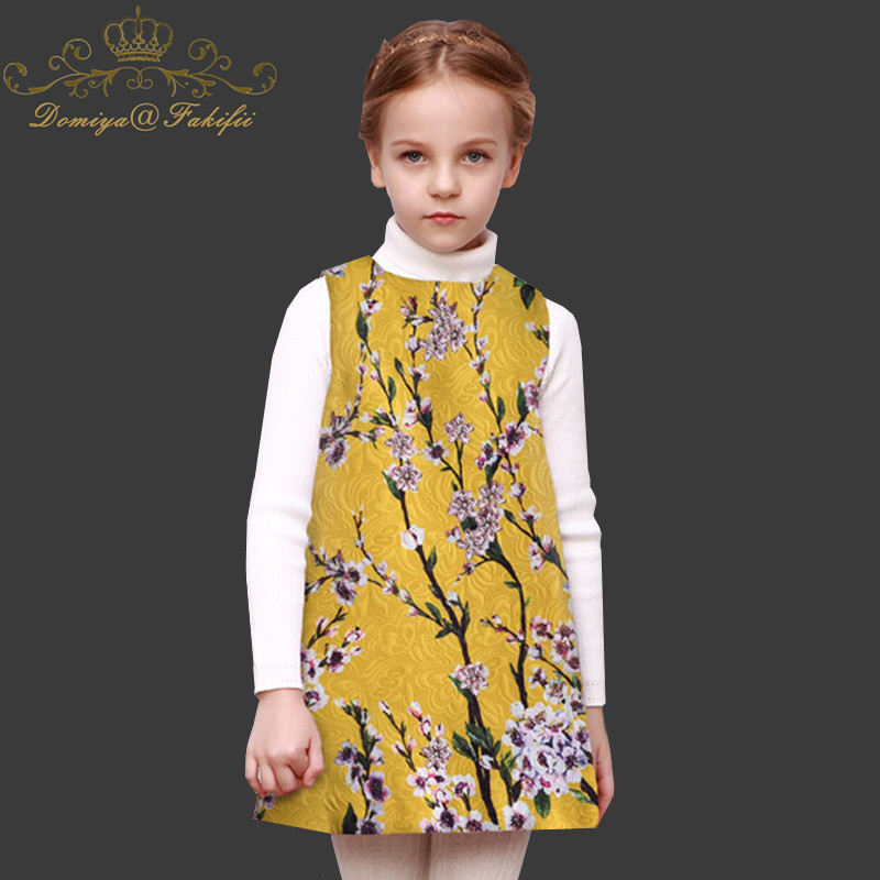 Girls Summer Dress Princess Party Wedding Dresses 2018 Brand Floral Kids Dresses for Girls Birthday Costume Children Clothes