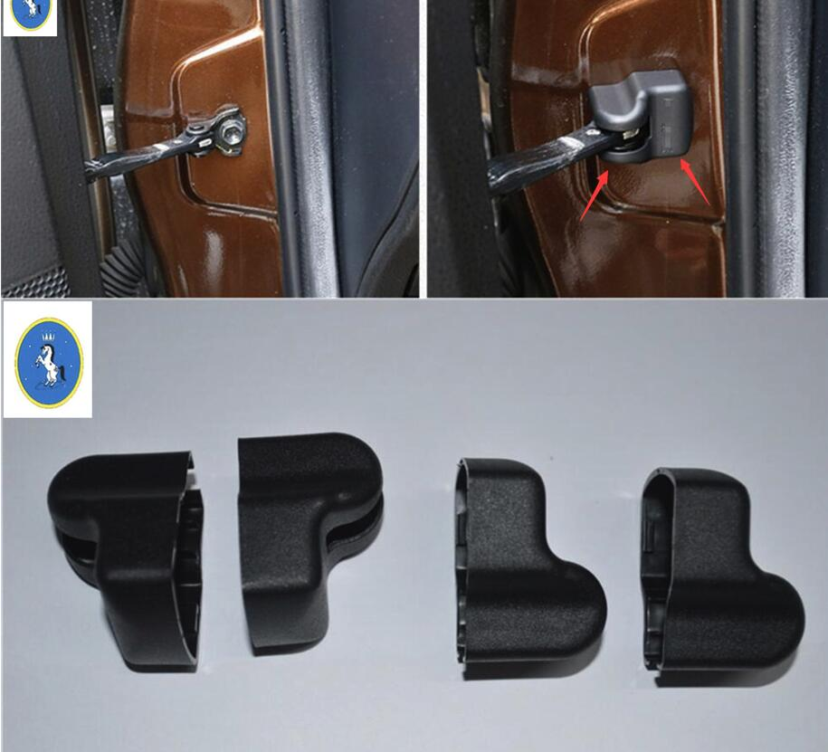 Yimaautotrims Auto <font><b>Accessory</b></font> Inner Door Stop Rust Waterproof Protector Cover Trim Fit For <font><b>LEXUS</b></font> NX <font><b>NX200T</b></font> NX300T <font><b>2015</b></font> - 2019 image