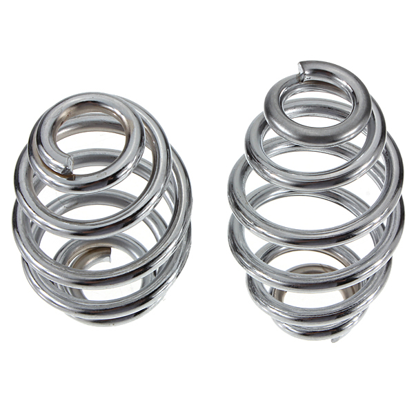 AUTO 2 pieces Seat springs 3 Seat-springs Solo-Seat For Harley motorcycles Silver