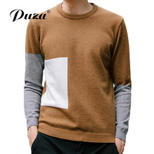 2017New Herfst Men Sweaters Casual Slim Fit Winter Patchwork Truien En Mannen Pullover Men Sweaters Truine Men Effen Kleur M-5XL