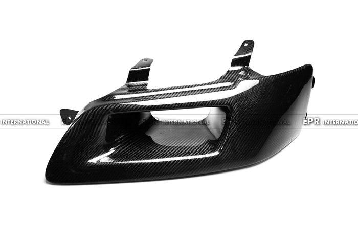 Conduit d'air de phare ventilé en Fiber de carbone pour voiture LHD côté conducteur finition brillante conduit d'air pour Mitsubishi Evolution EVO 7 8 9