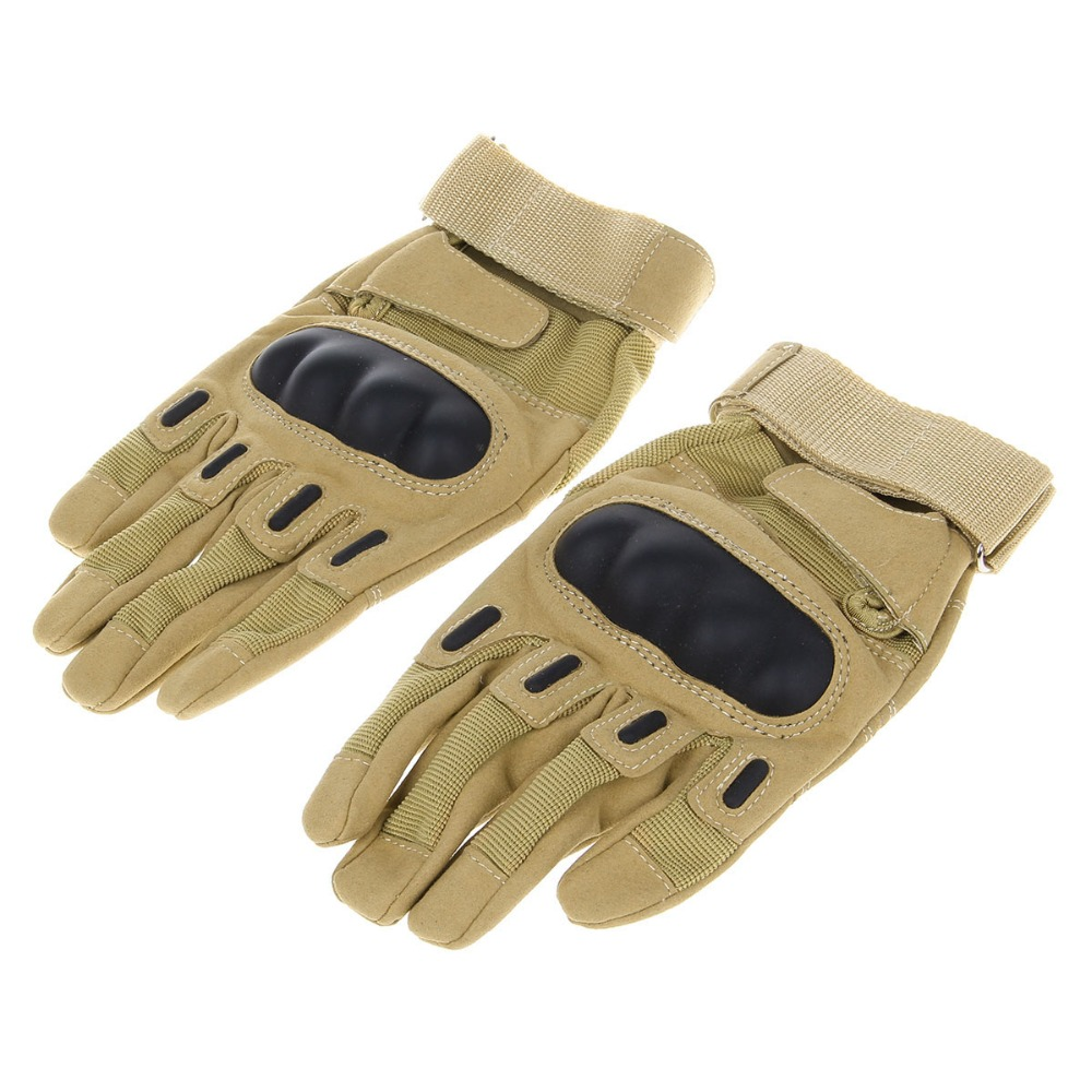 Motorcycle gloves price - Stylish Skid Proof Warm Full Finger Motorcycle Racing Gloves Coyote Tan Pair