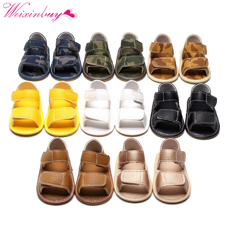 Baby Sandals Baby Boy Shoes Summer Fashion Breathable Camo Baby Boy Sandals Casual Newborn Baby Shoes цены онлайн