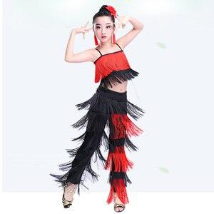 Image 2 - Songyuexia filles jupe de danse latine vêtements de performance vêtements dexamen de qualité Cha Liusu jupe de danse pour enfants