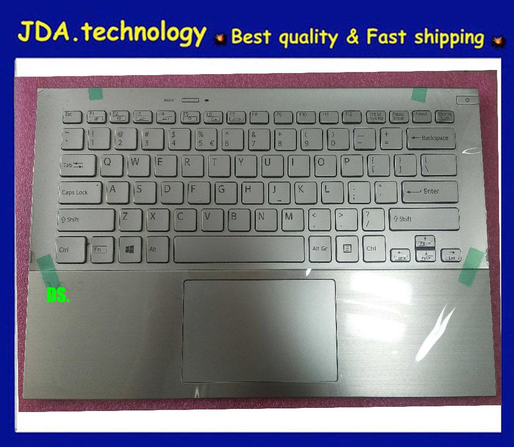 New for Sony VAIO Pro 13 SVP13 SVP132 touchpad palmrest Spain keyboard backlit