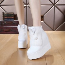 New Arrival Winter Snow Boots Round Toe Ankle Boots For Women Slip On Rabbit Ear