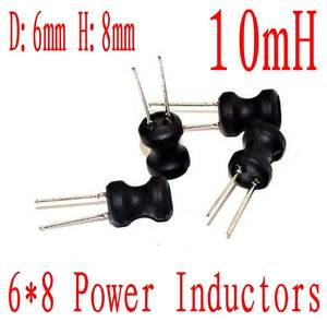x10 Pcs Radial power inductor 10MH 9X12mm 7664I