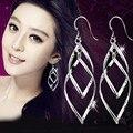 Free shipping! Wholesale Fashion Jewelry 925 Sterling Silver long Tassels Earrings Silver plating pendant earrings women jewelry