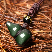 Alris Chicken Color Beads Crystal A Gourd And Diy Real Stone Obsidian Jewelry Pendant Necklace Charms