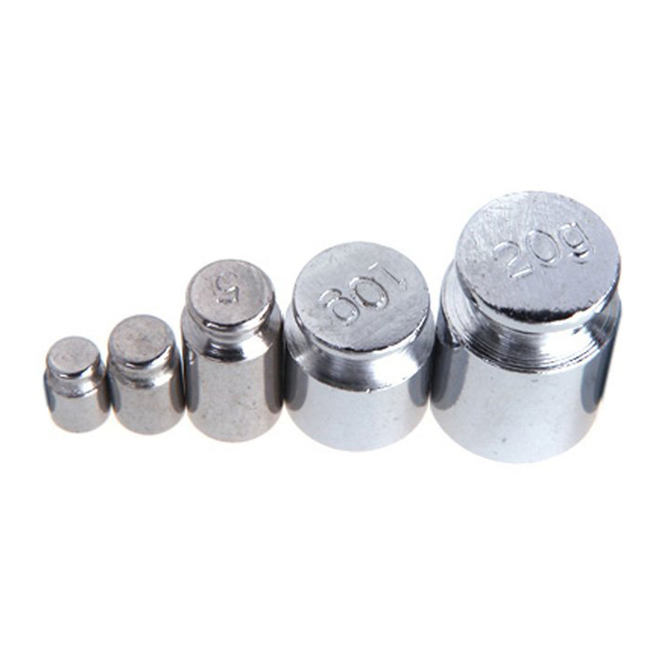 Weight 1g 2g 5g 10g 20g 50g Chrome Plating Calibration Gram Scale Weight Set /_TI