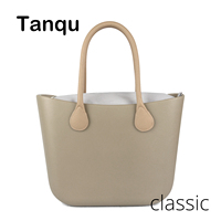 2018 New TANQU Classic EVA Bag with Insert Inner Pocket Colorful Handles EVA Silicon Rubber Waterproof Women Handbag Obag Style