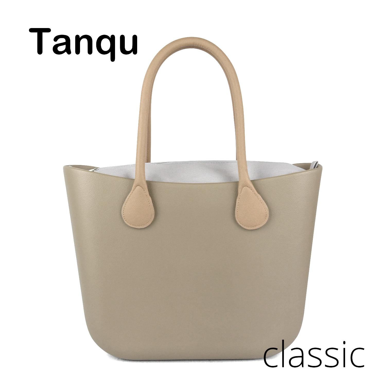 2018 Nouveau TANQU Classique EVA Sac avec Insert Poche Intérieure Coloré Poignées EVA De Silicium En Caoutchouc Étanche sac à main des femmes Obag Style