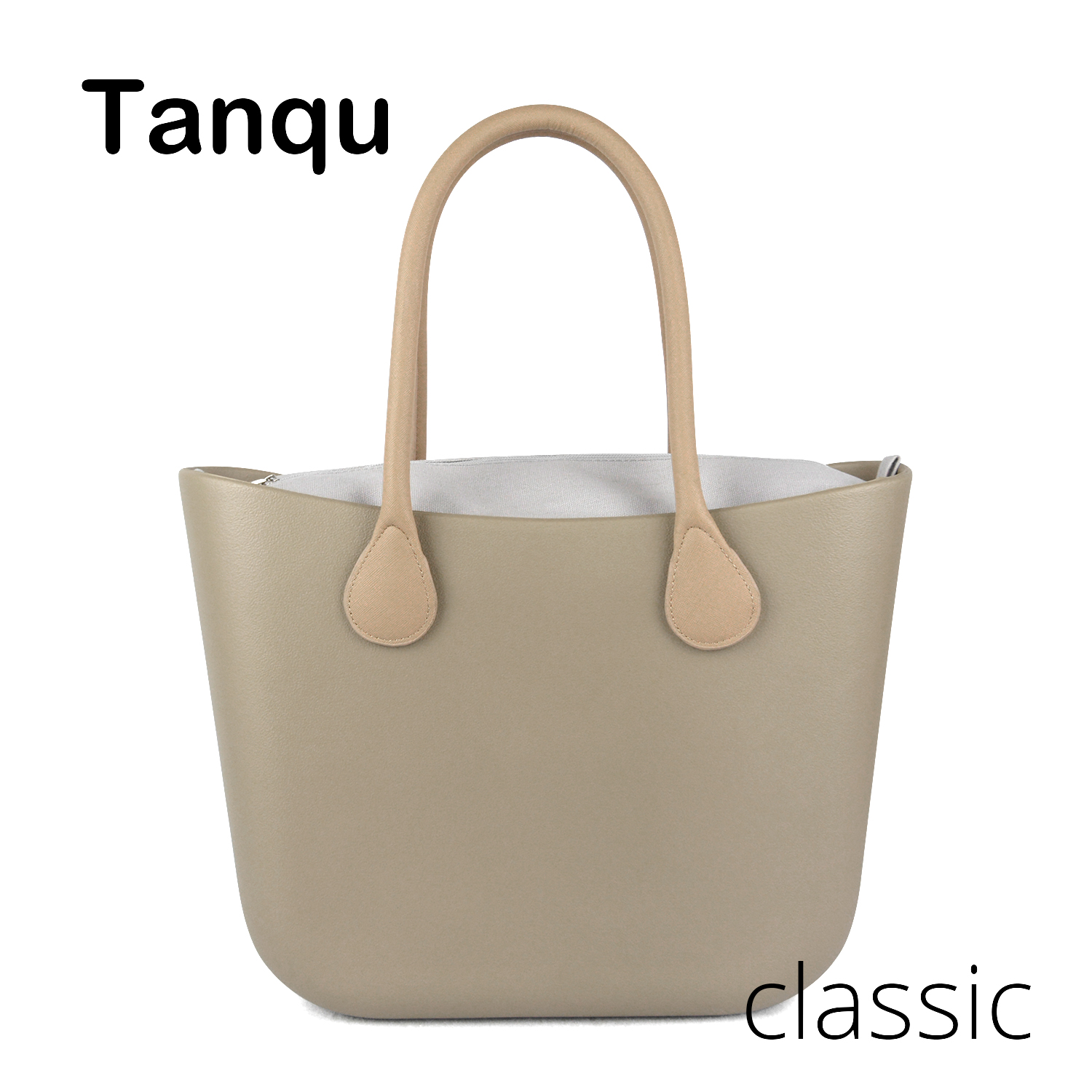 2019 New TANQU Classic EVA Bag With Insert Inner Pocket Colorful Handles EVA Silicon Rubber Waterproof Women Handbag Obag Style
