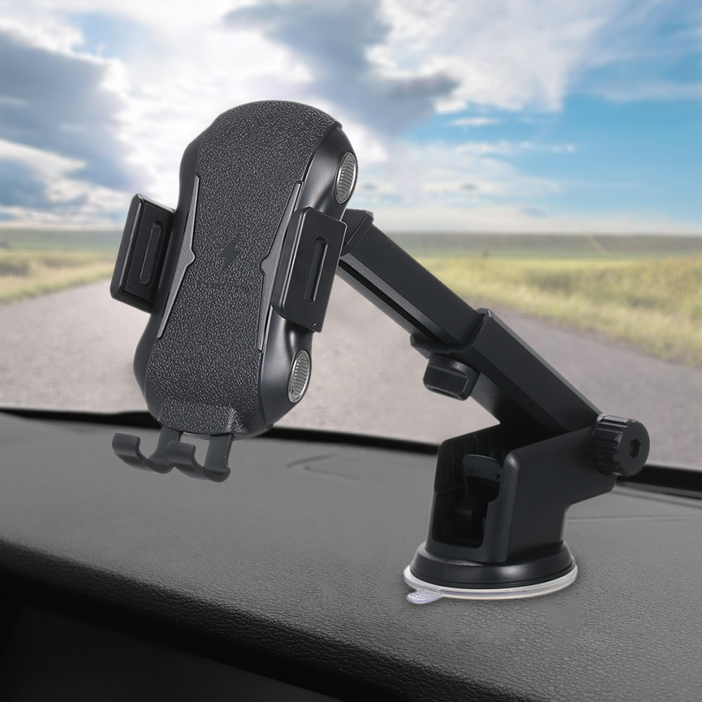 Qi Wireless Car Charger for iPhone Quick Charging Mount Mobile Phone Holder
