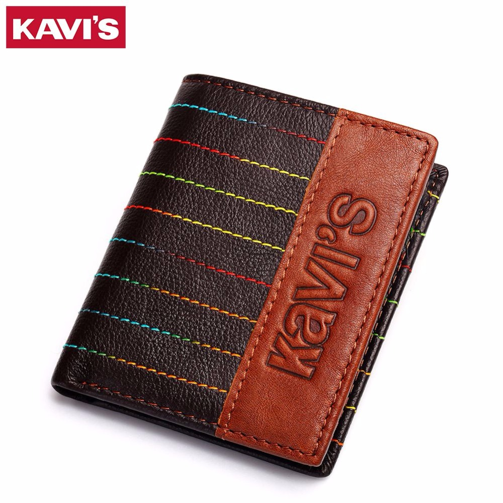 KAVIS 2017 Fashion Genuine Leather Women Wallets Female Multi-Functional Cowhide Photo Holder Male Purse Leather Wallet For Rfid