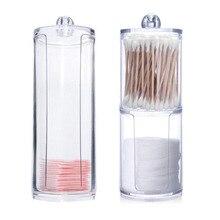 Акриловый Многофункциональный Круглый контейнер Qtip для косметики, для макияжа, хлопок, блокнот-органайзер для макияжа, настольный инструмент, ювелирный чехол, контейнер, Новинка
