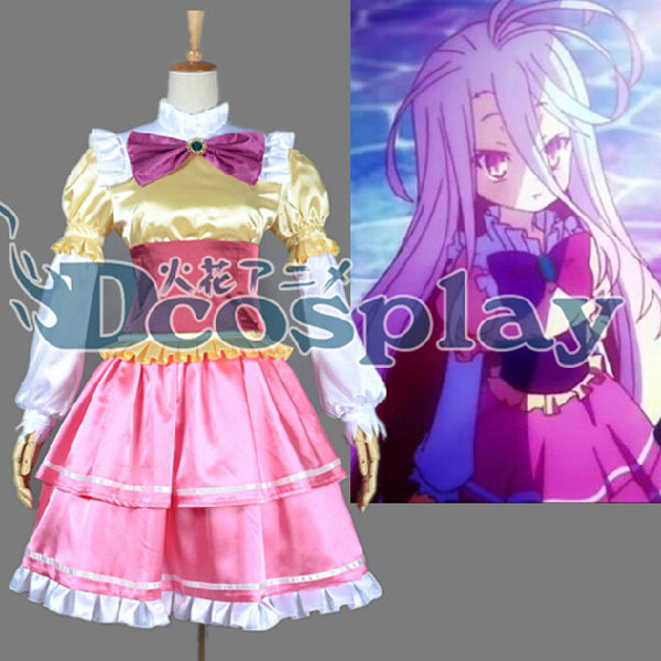 Details about Anime NO GAME NO LIFE Sister Siro Cosplay Costume Party Costume Fashion Dress S-XL NEW